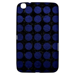 Circles1 Black Marble & Blue Leather Samsung Galaxy Tab 3 (8 ) T3100 Hardshell Case  by trendistuff