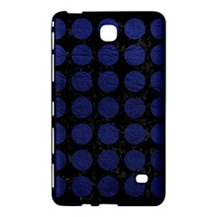 Circles1 Black Marble & Blue Leather Samsung Galaxy Tab 4 (8 ) Hardshell Case  by trendistuff
