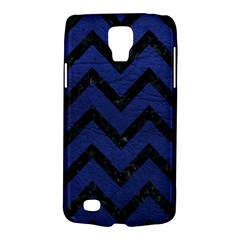 Chevron9 Black Marble & Blue Leather (r) Samsung Galaxy S4 Active (i9295) Hardshell Case by trendistuff