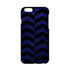 Chevron2 Black Marble & Blue Leather Apple Iphone 6/6s Hardshell Case by trendistuff