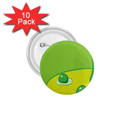 Food Egg Minimalist Yellow Green 1 75  Buttons (10 Pack) by Alisyart