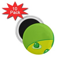 Food Egg Minimalist Yellow Green 1 75  Magnets (10 Pack)  by Alisyart