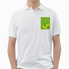 Food Egg Minimalist Yellow Green Golf Shirts