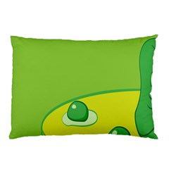 Food Egg Minimalist Yellow Green Pillow Case by Alisyart