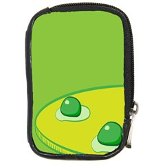 Food Egg Minimalist Yellow Green Compact Camera Cases by Alisyart