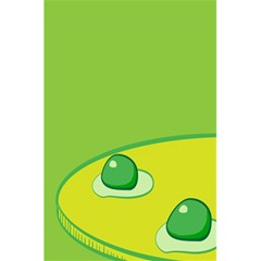 Food Egg Minimalist Yellow Green 5 5  X 8 5  Notebooks