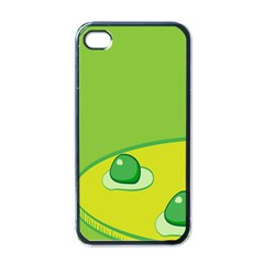 Food Egg Minimalist Yellow Green Apple Iphone 4 Case (black) by Alisyart