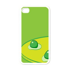 Food Egg Minimalist Yellow Green Apple Iphone 4 Case (white) by Alisyart