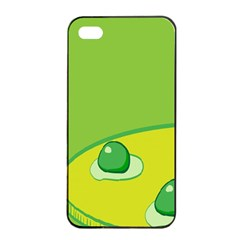 Food Egg Minimalist Yellow Green Apple Iphone 4/4s Seamless Case (black) by Alisyart