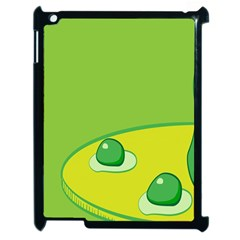 Food Egg Minimalist Yellow Green Apple Ipad 2 Case (black)