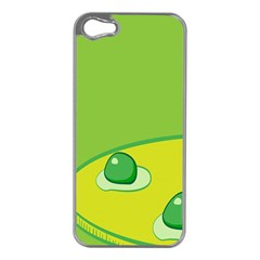 Food Egg Minimalist Yellow Green Apple Iphone 5 Case (silver) by Alisyart