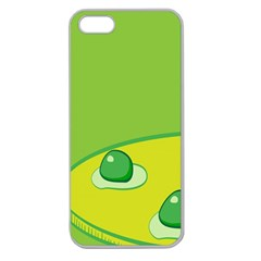 Food Egg Minimalist Yellow Green Apple Seamless Iphone 5 Case (clear)