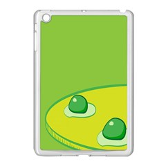 Food Egg Minimalist Yellow Green Apple Ipad Mini Case (white) by Alisyart