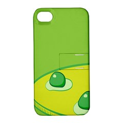 Food Egg Minimalist Yellow Green Apple Iphone 4/4s Hardshell Case With Stand by Alisyart