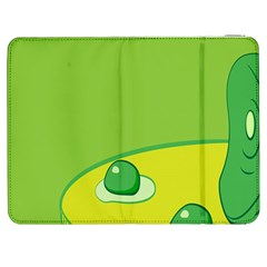 Food Egg Minimalist Yellow Green Samsung Galaxy Tab 7  P1000 Flip Case
