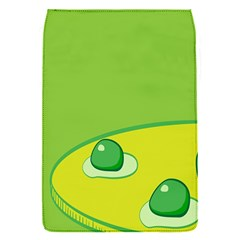 Food Egg Minimalist Yellow Green Flap Covers (s)  by Alisyart