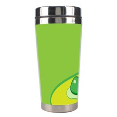 Food Egg Minimalist Yellow Green Stainless Steel Travel Tumblers by Alisyart