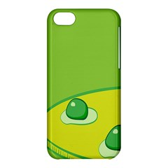 Food Egg Minimalist Yellow Green Apple Iphone 5c Hardshell Case by Alisyart