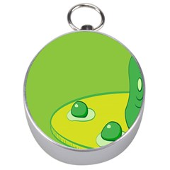 Food Egg Minimalist Yellow Green Silver Compasses by Alisyart