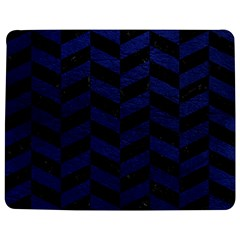 Chevron1 Black Marble & Blue Leather Jigsaw Puzzle Photo Stand (rectangular) by trendistuff