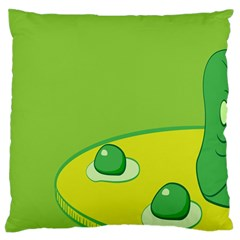 Food Egg Minimalist Yellow Green Large Flano Cushion Case (two Sides) by Alisyart