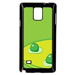 Food Egg Minimalist Yellow Green Samsung Galaxy Note 4 Case (black)