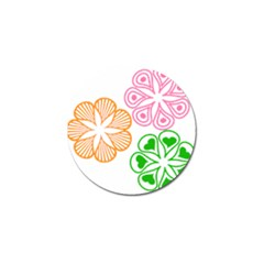 Flower Floral Love Valentine Star Pink Orange Green Golf Ball Marker (10 Pack) by Alisyart
