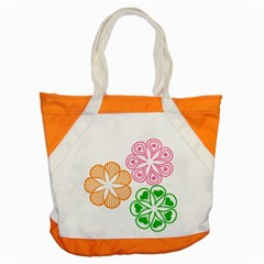 Flower Floral Love Valentine Star Pink Orange Green Accent Tote Bag by Alisyart