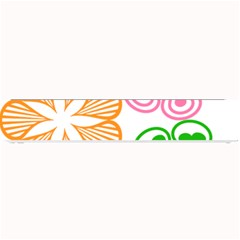 Flower Floral Love Valentine Star Pink Orange Green Small Bar Mats by Alisyart