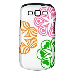 Flower Floral Love Valentine Star Pink Orange Green Samsung Galaxy S Iii Classic Hardshell Case (pc+silicone) by Alisyart