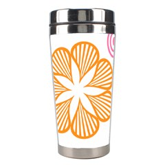 Flower Floral Love Valentine Star Pink Orange Green Stainless Steel Travel Tumblers by Alisyart