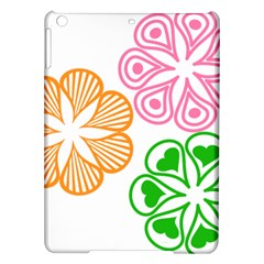Flower Floral Love Valentine Star Pink Orange Green Ipad Air Hardshell Cases by Alisyart