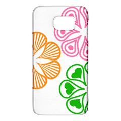 Flower Floral Love Valentine Star Pink Orange Green Galaxy S6
