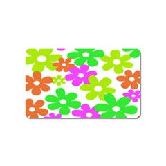 Flowers Floral Sunflower Rainbow Color Pink Orange Green Yellow Magnet (name Card)