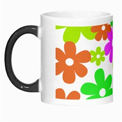 Flowers Floral Sunflower Rainbow Color Pink Orange Green Yellow Morph Mugs by Alisyart