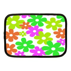 Flowers Floral Sunflower Rainbow Color Pink Orange Green Yellow Netbook Case (medium)  by Alisyart