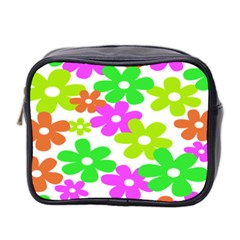 Flowers Floral Sunflower Rainbow Color Pink Orange Green Yellow Mini Toiletries Bag 2 Side by Alisyart