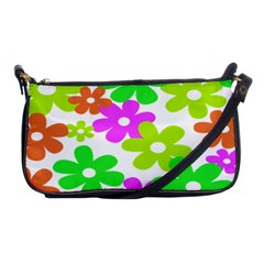 Flowers Floral Sunflower Rainbow Color Pink Orange Green Yellow Shoulder Clutch Bags by Alisyart