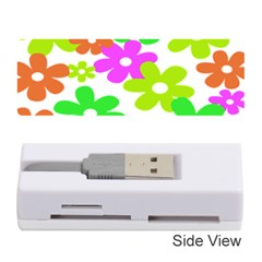 Flowers Floral Sunflower Rainbow Color Pink Orange Green Yellow Memory Card Reader (stick)