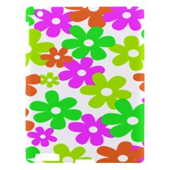 Flowers Floral Sunflower Rainbow Color Pink Orange Green Yellow Apple Ipad 3/4 Hardshell Case by Alisyart