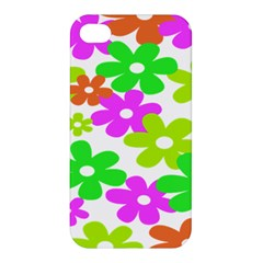 Flowers Floral Sunflower Rainbow Color Pink Orange Green Yellow Apple Iphone 4/4s Premium Hardshell Case