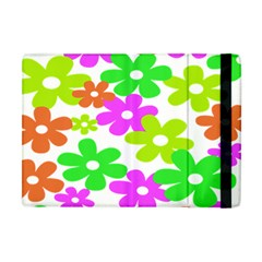 Flowers Floral Sunflower Rainbow Color Pink Orange Green Yellow Apple Ipad Mini Flip Case by Alisyart
