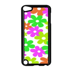 Flowers Floral Sunflower Rainbow Color Pink Orange Green Yellow Apple Ipod Touch 5 Case (black) by Alisyart
