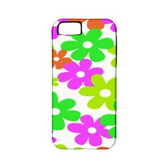 Flowers Floral Sunflower Rainbow Color Pink Orange Green Yellow Apple Iphone 5 Classic Hardshell Case (pc+silicone)