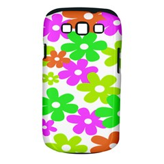 Flowers Floral Sunflower Rainbow Color Pink Orange Green Yellow Samsung Galaxy S Iii Classic Hardshell Case (pc+silicone)
