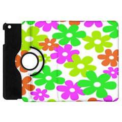Flowers Floral Sunflower Rainbow Color Pink Orange Green Yellow Apple Ipad Mini Flip 360 Case by Alisyart