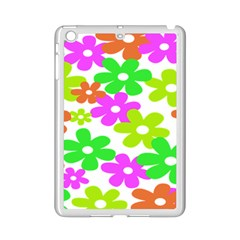 Flowers Floral Sunflower Rainbow Color Pink Orange Green Yellow Ipad Mini 2 Enamel Coated Cases by Alisyart