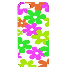 Flowers Floral Sunflower Rainbow Color Pink Orange Green Yellow Apple Iphone 5 Hardshell Case With Stand