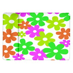 Flowers Floral Sunflower Rainbow Color Pink Orange Green Yellow Samsung Galaxy Tab 10 1  P7500 Flip Case