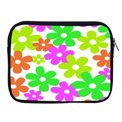 Flowers Floral Sunflower Rainbow Color Pink Orange Green Yellow Apple Ipad 2/3/4 Zipper Cases by Alisyart